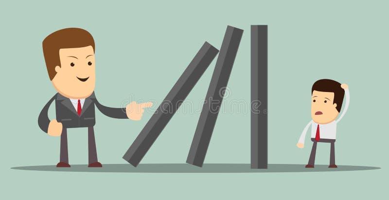 Efeito de dominó Vetor ilustração stock