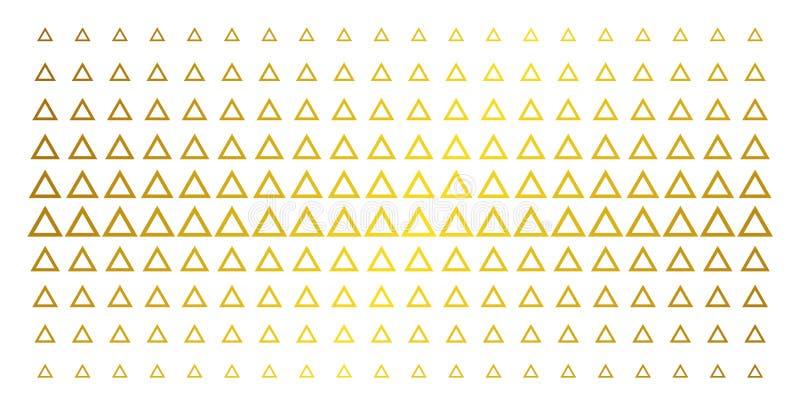 Efeito de intervalo mínimo dourado do triângulo do contorno ilustração stock