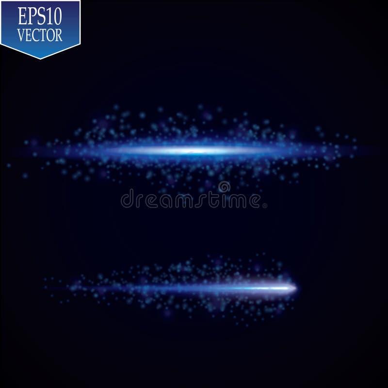 efeito do fulgor anel luminoso Quadro abstrato cósmico das luzes de néon Quadro redondo do projeto mágico Efeito da fuga do redem ilustração stock
