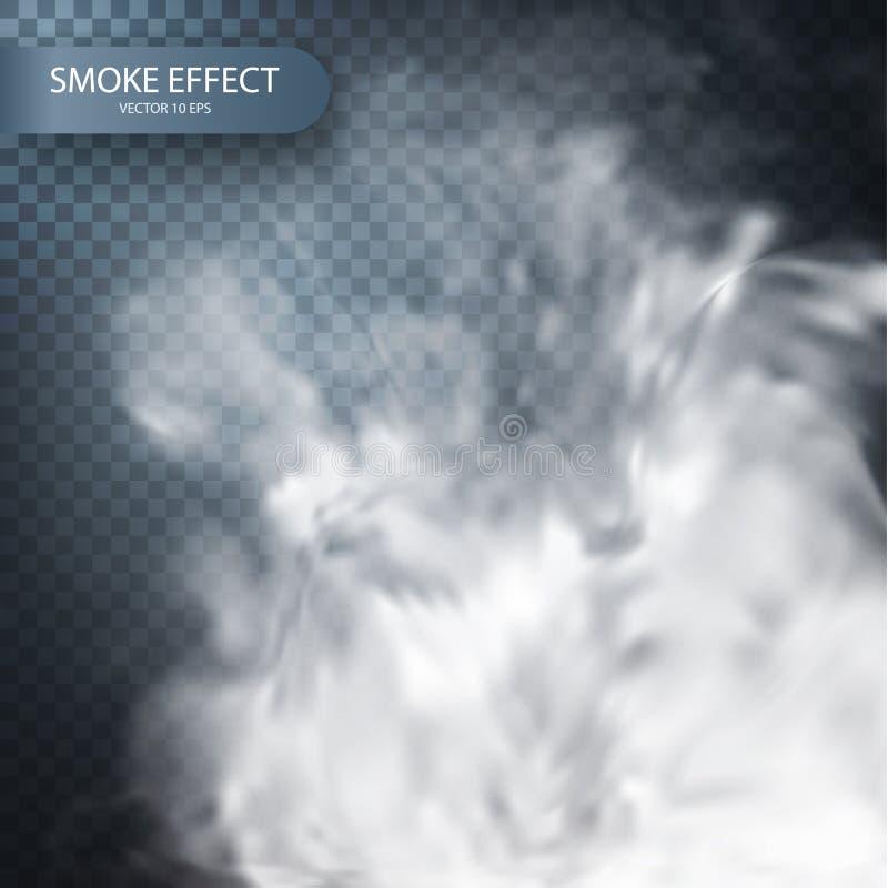Efeito do fumo em um fundo transparente do vetor ilustração stock