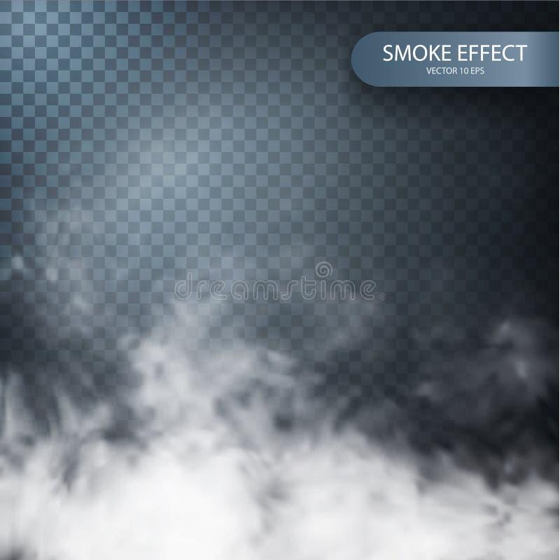 Efeito do fumo em um fundo transparente do vetor ilustração royalty free