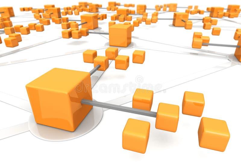 Efeito do marco do conceito da rede do negócio ilustração stock