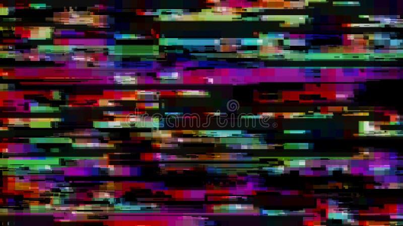 Efeito do pulso aleat?rio Erro do tela de computador V?deo do erro Ru?do abstrato do pixel de Digitas Falha do sinal da tev? Fund ilustração royalty free