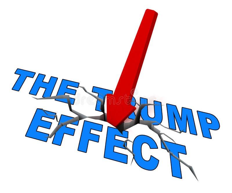 Efeito do trunfo que significa o Screwup da confusão da falha e o desastre - ilustração 3d ilustração do vetor