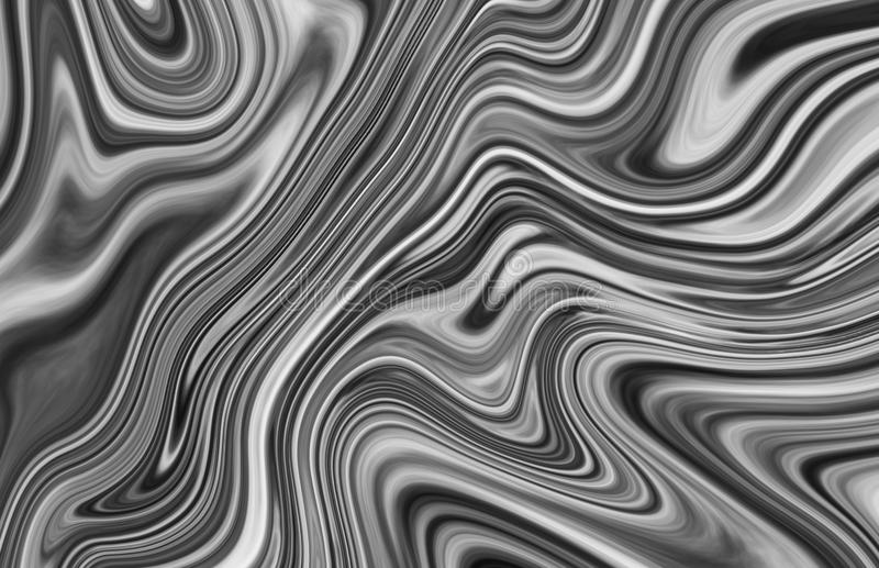 Efeito fluido cinzento e preto abstrato da textura do teste padrão da arte ilustração royalty free