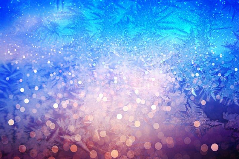 Efeito gelado do abeto vermelho do Natal imagens de stock