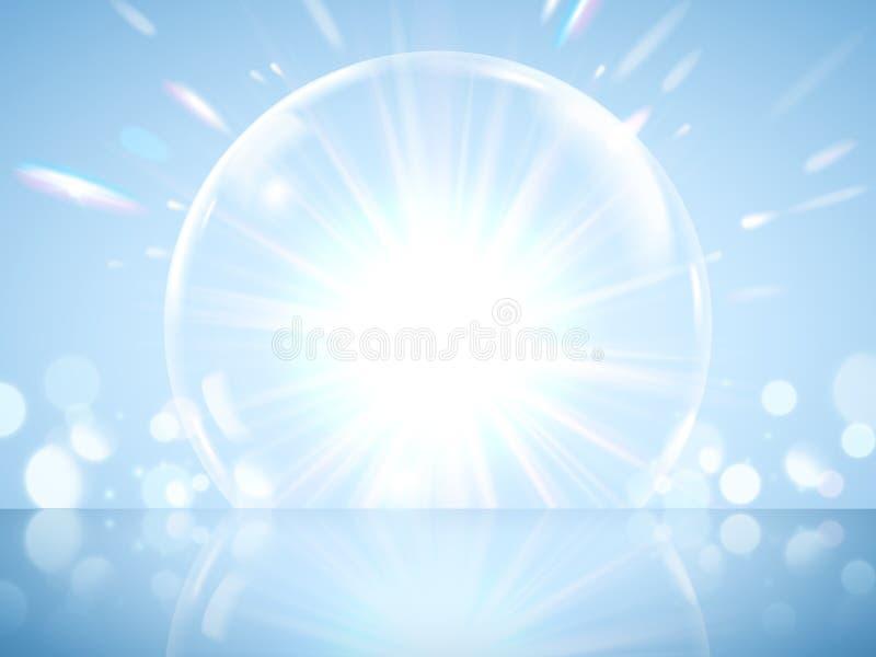 Efeito gigante de brilho da bolha ilustração stock