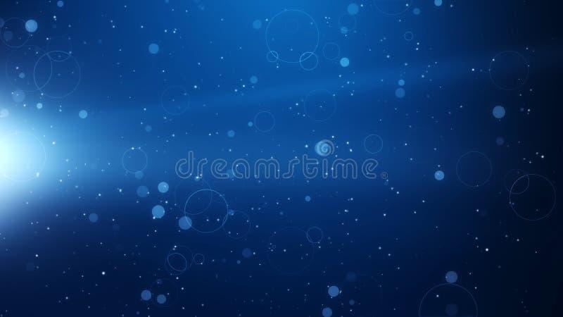 Efeito mágico da partícula do fundo, fundo simples ilustração stock