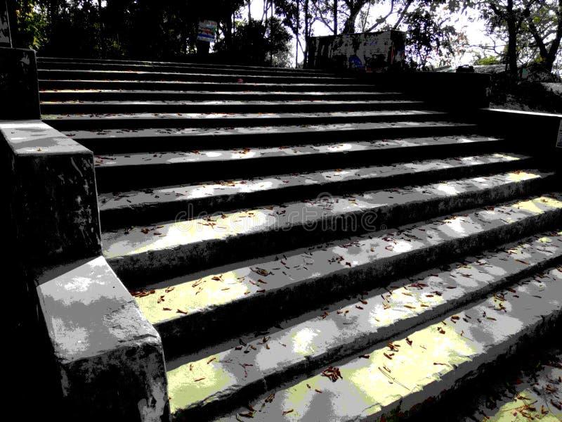 Efeito posterised escadaria imagem de stock royalty free