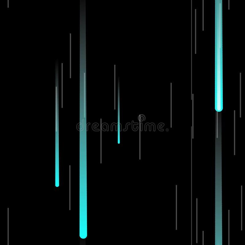 Efeito rápido Néon do movimento Teste padrão sem emenda glitch ilustração do vetor