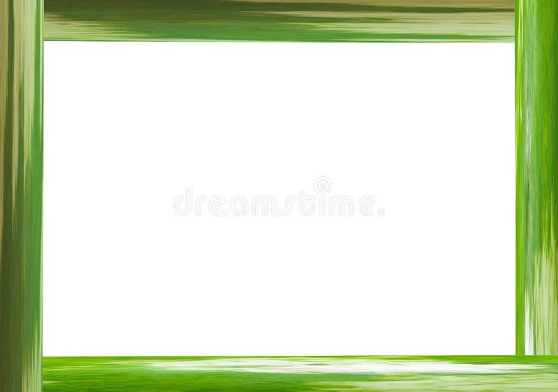 Efeito rústico do tronco de bambu da grama no fundo branco, a base da beira do verde do quadro de Eco do menu imagens de stock