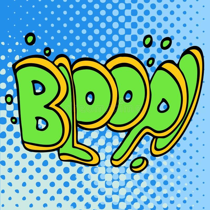 Efeito subaquático de Bloop ilustração stock