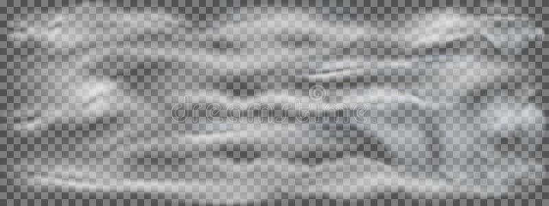 Efeito transparente realístico do fumo, da névoa ou da névoa isolados no fundo escuro Nuvem isolada realística em um transparente ilustração do vetor