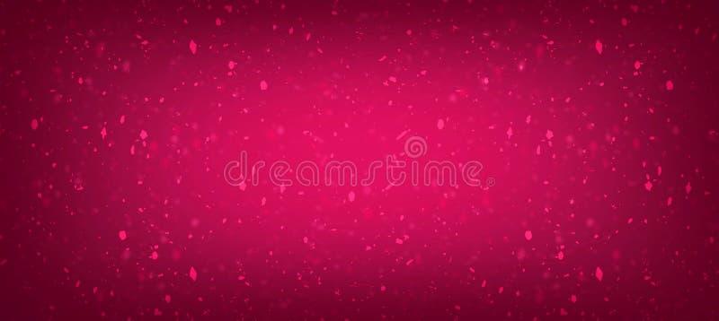 Efeitos cinemáticos do gilter do rosa os melhores com imagem da poeira no inclinação para a criação do Web site ilustração do vetor
