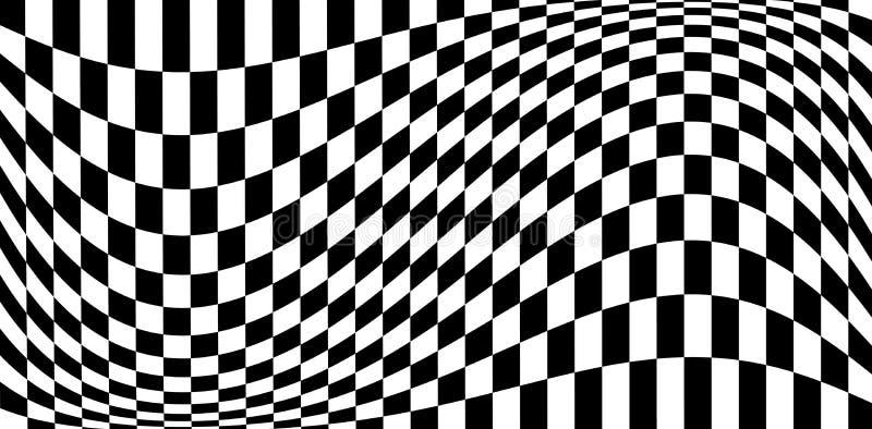 Efeitos da distorção no teste padrão quadriculado ilustração stock