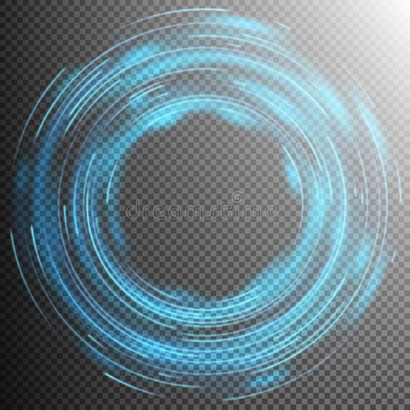 Efeitos da luz azuis Eps 10 ilustração royalty free