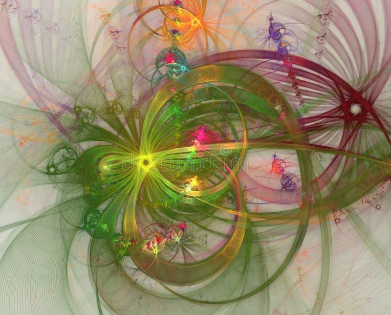 Efeitos da luz da cor Fogos de artifício e fios abstratos do brilho Fogos-de-artifício e celebração ilustração stock