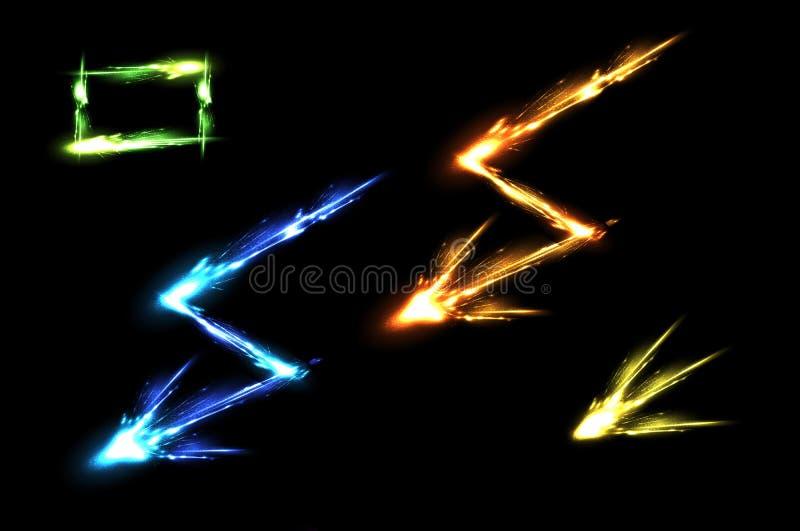 Efeitos de néon claros ilustração do vetor