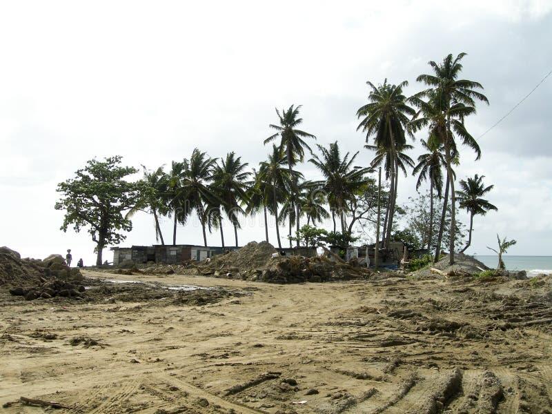 Efeitos do furacão Soufriere St Lucia foto de stock royalty free