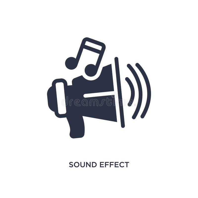 efekt dźwiękowy ikona na białym tle Prosta element ilustracja od Kinowego pojęcia royalty ilustracja