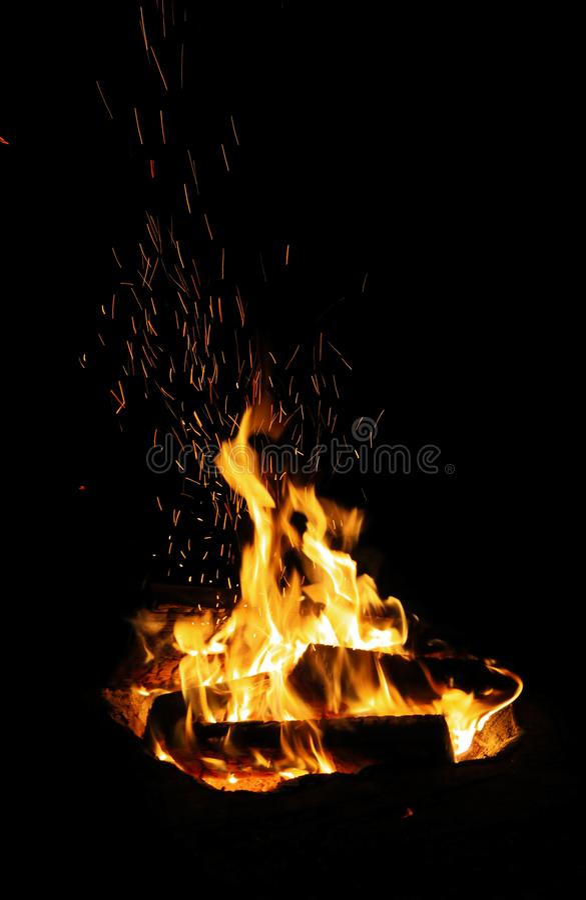 Efervescência do fogo com faíscas fotos de stock