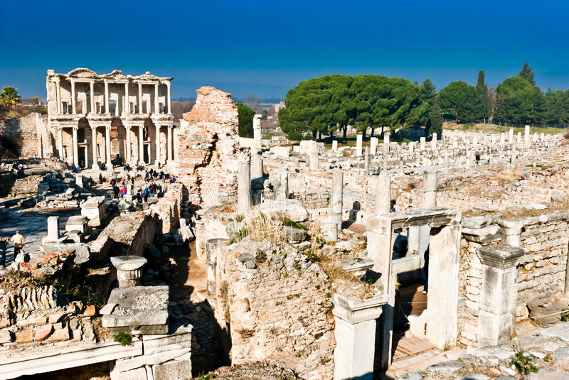 Efes in Turkey royalty free stock photography