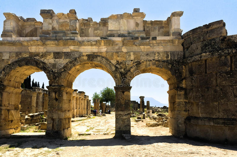 Efesiumruïnes stock foto