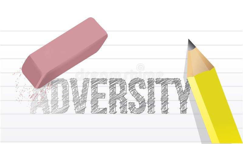 Effacement de la conception d'illustration de concept d'adversité illustration libre de droits