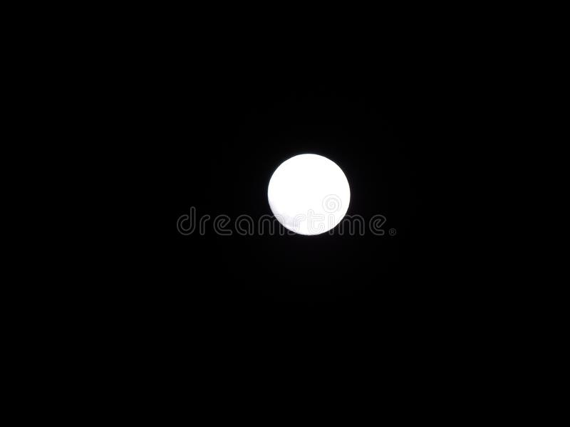 The effect of approaching the moon spot royalty free stock photo
