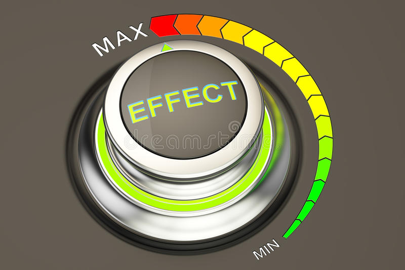 Effect concept, hoogste niveau van effect het 3d teruggeven royalty-vrije illustratie
