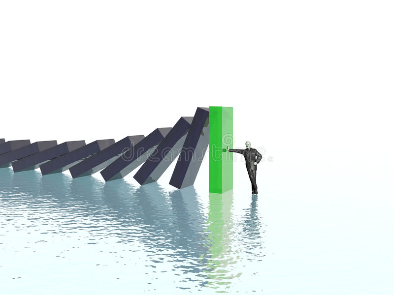Download Effect domino stock illustration. Image of problems, danger - 3145854