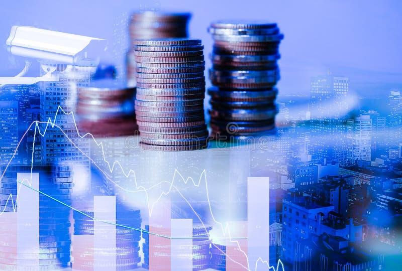 Effectenbeurs of forex handelgrafiek en kandelaargrafiek geschikt voor financieel investeringsconcept Het businessplan bij komt s royalty-vrije stock afbeeldingen