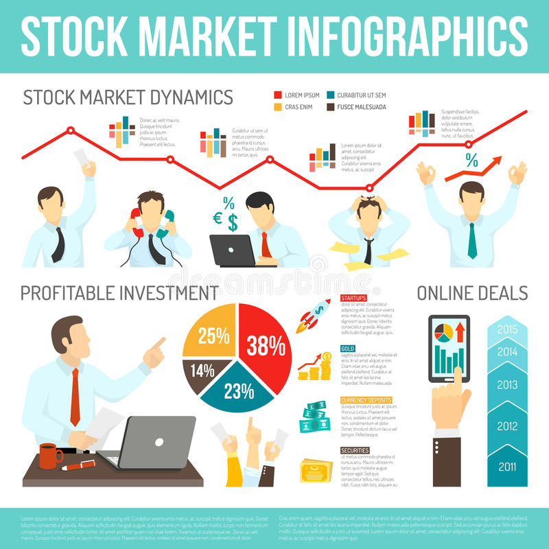 Effectenbeurs Infographics royalty-vrije illustratie