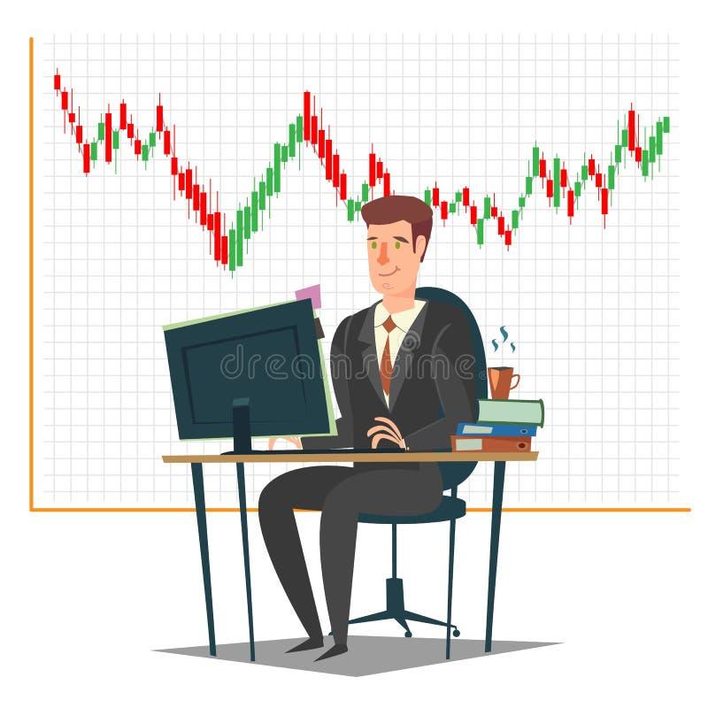 Effectenbeurs, investering en handelconcepten vectorillustratie royalty-vrije illustratie