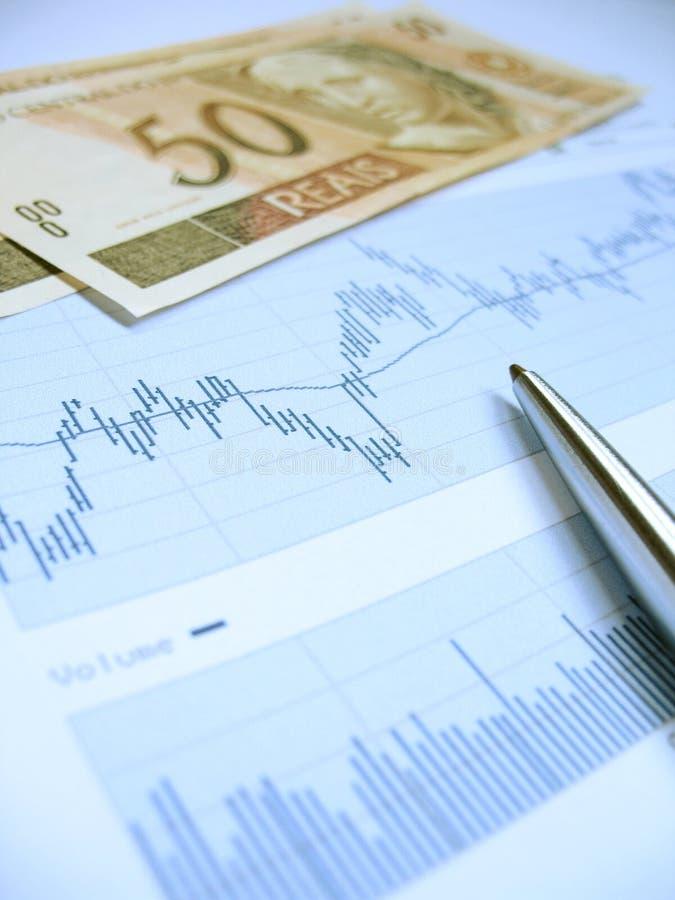 Effectenbeursanalyse royalty-vrije stock fotografie