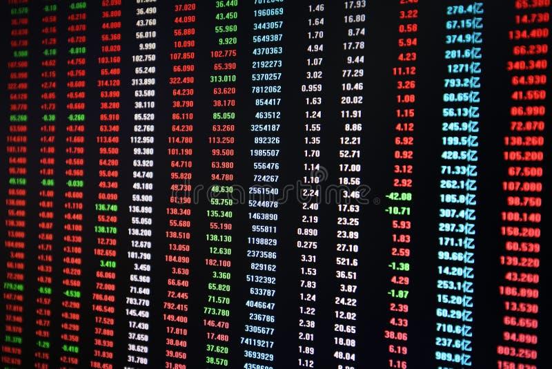 Effectenbeursdiagram stock foto