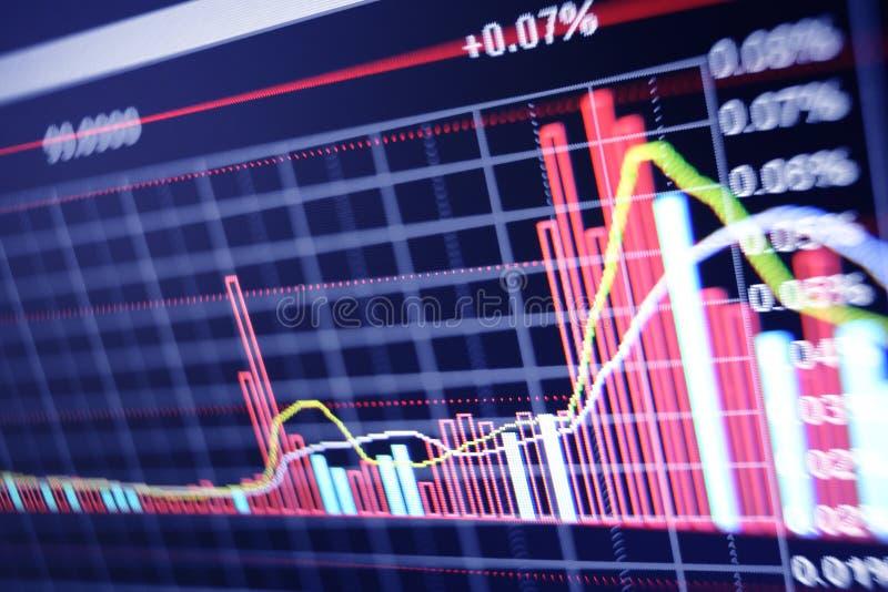 Effectenbeursdiagram stock afbeelding
