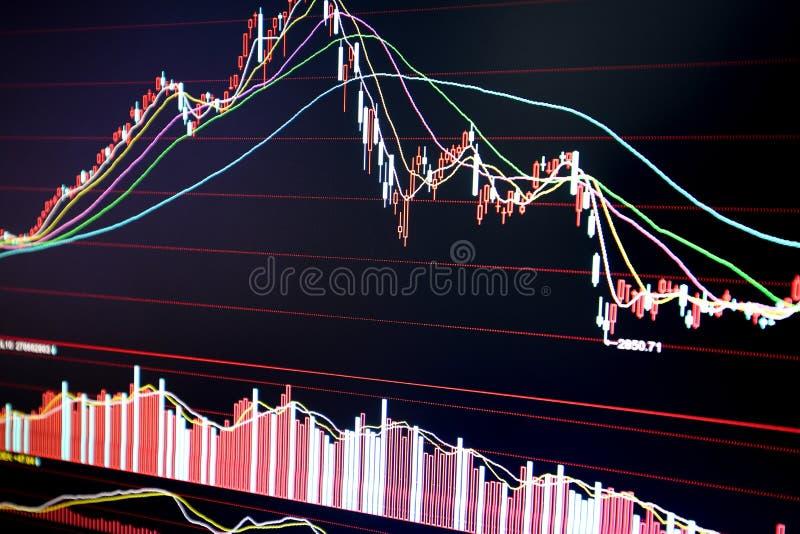 Effectenbeursdiagram stock afbeeldingen