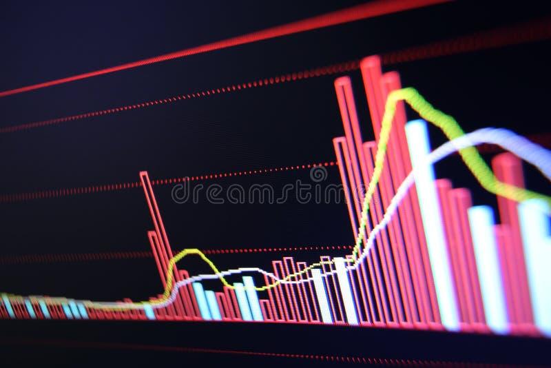 Effectenbeursdiagram stock fotografie