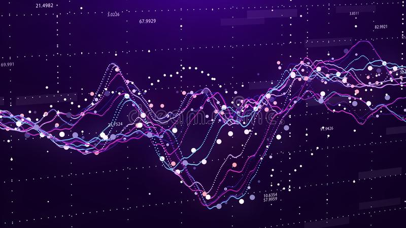 Effectenbeursgrafiek Grote Gegevens Bedrijfs grafiek Investeringsgrafiek Abstracte Financi?le Grafiek het 3d teruggeven royalty-vrije stock afbeeldingen