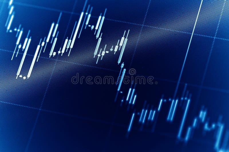 Effectenbeursgrafieken royalty-vrije stock afbeeldingen