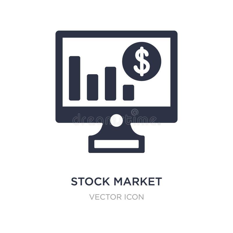 effectenbeurspictogram op witte achtergrond Eenvoudige elementenillustratie van Bedrijfs en analyticsconcept stock illustratie