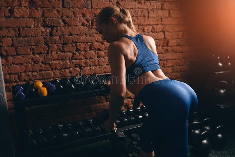 Effective training prograg to make your body muscular and flexible stock image
