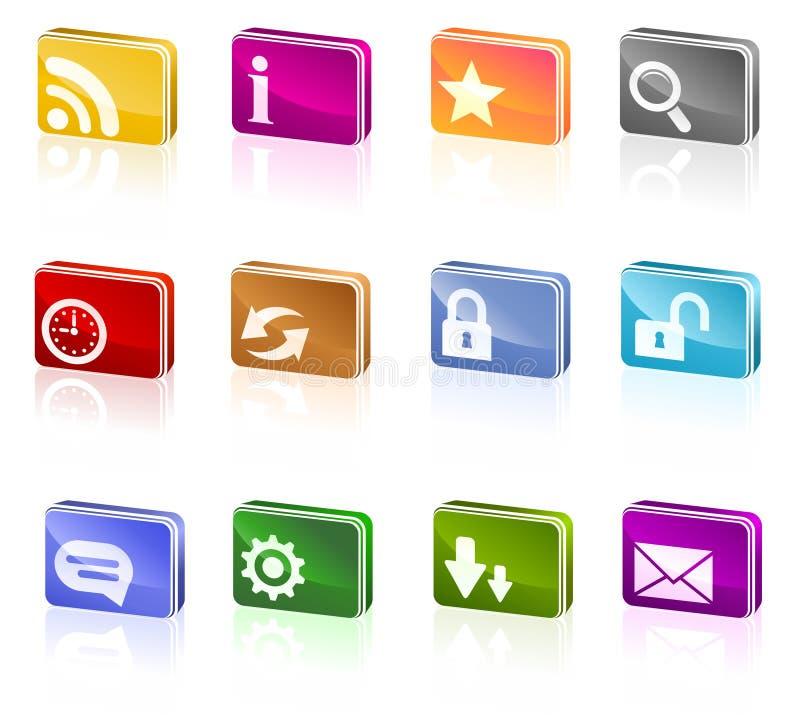 Free Effectly Webdesign Icon Set Royalty Free Stock Photo - 19106335