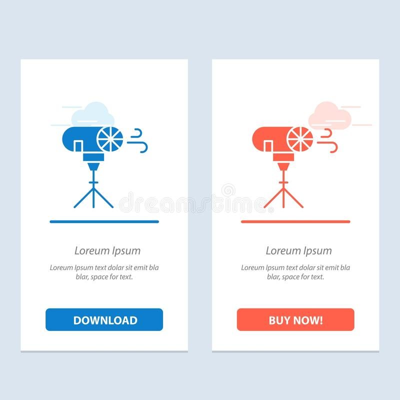 Effects, Photo, Photographic, Special  Blue and Red Download and Buy Now web Widget Card Template royalty free illustration