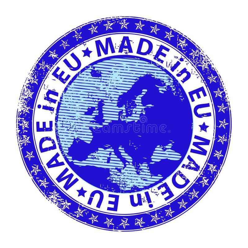 Effectué à l'UE illustration stock