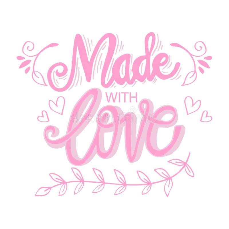 Effectué avec amour illustration libre de droits