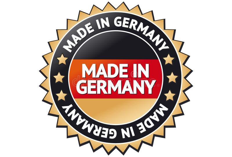 Effectué dans l'étiquette de l'Allemagne illustration de vecteur