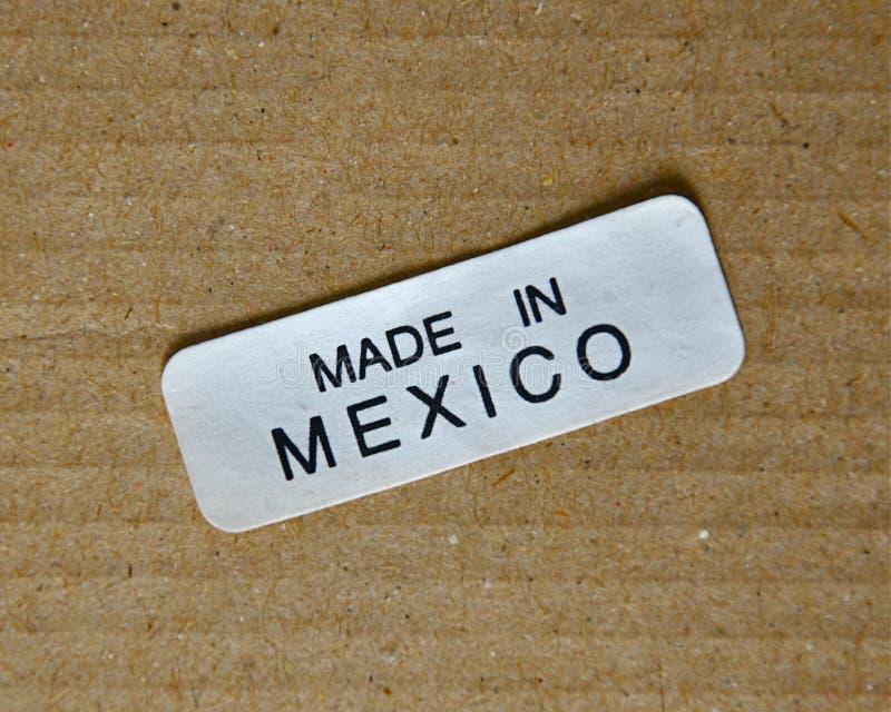 Effectué dans l'étiquette du Mexique images stock