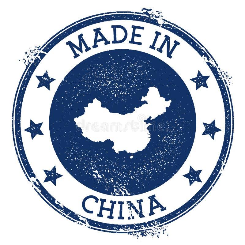 Effectué dans l'estampille de la Chine illustration libre de droits